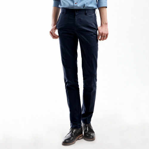 TRMARK PINK LABLE SLIM CHINO NAVY