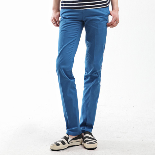 TRMARK PINK LABLE SLIM CHINO SEA BLUE