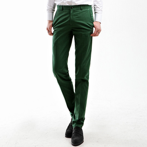 TRMARK PINK LABLE SLIM CHINO FOREST GREEN