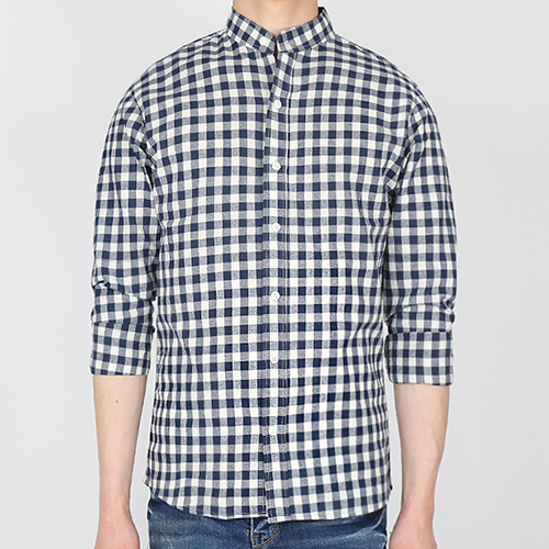 TRMARK GINGHAM CHECK SHIRT  BLUE