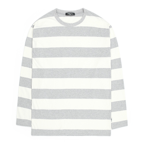 TRMARK COTTON BORDER TEE GRAY