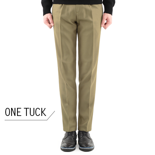 TRMARK F/W ONE TUCK SLACKS BEIGE