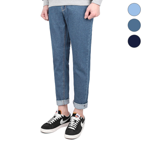 TRMARK HIGH CUT WASHING DENIM  BLUE