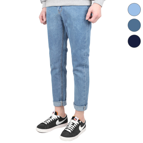 TRMARK HIGH CUT WASHING DENIM L-BLUE