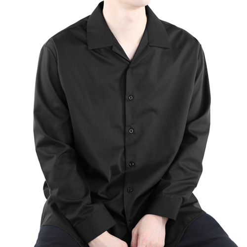 TRMARK NO TIE SHIRT BLACK