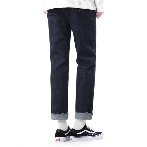 TRMARK SPAN RAW STRAIGHT CROP D-BLUE