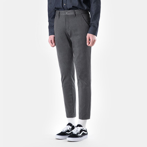 TRMARK SLIM CHINO SLACKS CHARCOAL
