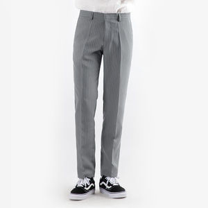 TRMARK STRAIGHT STRIPE SLACKS GRAY