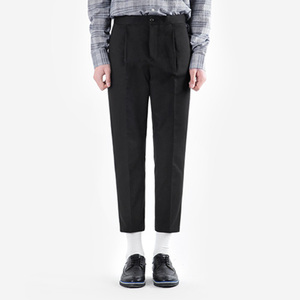 TRMARK HALF BAND COTTON PANTS BLACK
