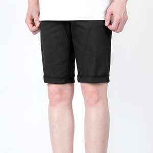 TRMARKCOTTON CROP HALF PANTS BLACK