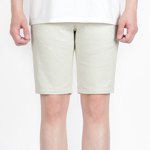 TRMARK COTTON PLAIN HALF PANTS L-KHAKI