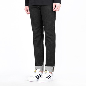 TRMARK SPAN WASHED TURN UP DENIM BLACK