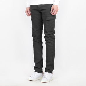TRMARK SLIM COTTON CARGO PANTS GRAY