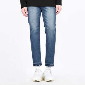 TRMARK SLIM WASHED BIKER DENIM BLUE