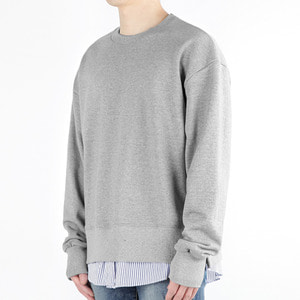 TRMARK SHIRT LAYERD SWEAT MTM GRAY