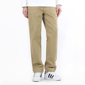 TRMARK STRAIGHT COTTON FATIGUE PANTS BEIGE