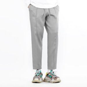 TRMARK WIDE BANDING SLACKS GRAY