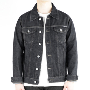 TRMARK FLAIR DENIM TRUCKER JACKET BLACK