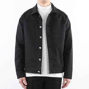 TRMARK TWILL COTTON SPAN JACKET BLACK