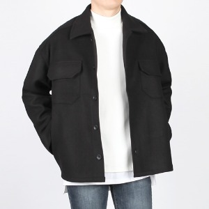 TRMARK OVER FIT WOOL JACKET BLACK
