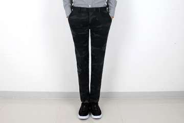 TRMARK CAMOUFLAGE SLIM PANTS  BLACK