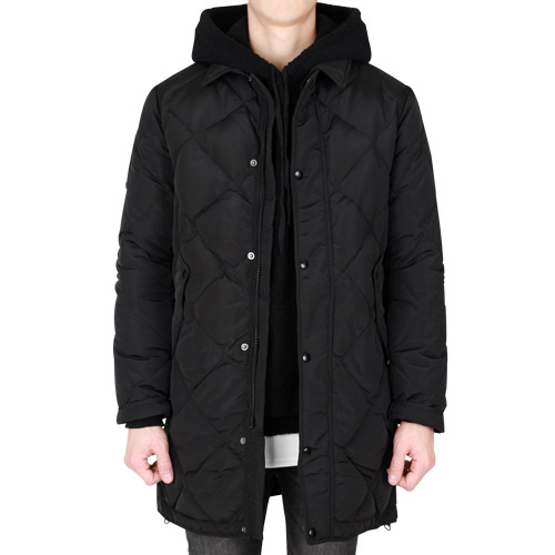 TRMARK DOWN QUILTING COAT BLACK