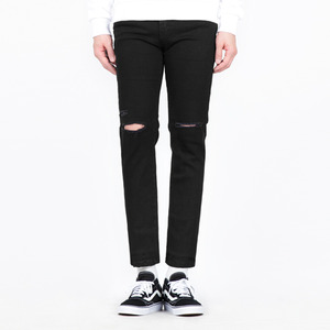 TRMARK SLIM CUTTED BLACK DENIM BLACK