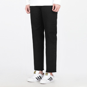 TRMARK SPAN COTTON CROP PANTS BLACK