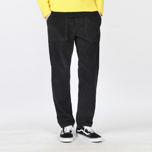 TRMARK ROPE CORDUROY PANTS BLACK